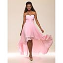 a-line princess strapless恋人の床の長さ非対称シフォンイブニングドレスとビーズtscouture®