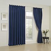 Un Panel Moderna Sólido Multi-color Sala de estar Poliéster Blackout cortinas cortinas