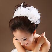 Mujer Tul Perla Artificial Celada-Boda Ocasión especial Flores