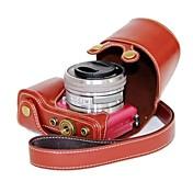 Funda protectora de cuero de la cámara pajiatu® PU para Sony Alpha A5000 ILCE-5000 a5100 ILCE-5100 nex-3n