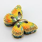 caja de la joyería caja de la baratija mariposa estaño esmalte