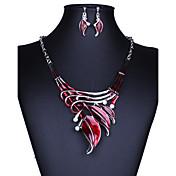 Dámské Sady šperků Visací náušnice Náhrdelníky s přívěšky Módní Velké šperky Retro Evropský bižuterie Barva ozdobného kamene Křišťál Leaf