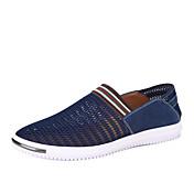 Hombre-Tacón Plano-Confort Suelas con luz-Zapatos de taco bajo y Slip-Ons-Exterior Oficina y Trabajo Informal-Tul-