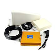 GSM / 3G W-CDMA teléfono móvil amplificador de señal de banda dual, amplificador de señal de la antena + log periódica + antena plana