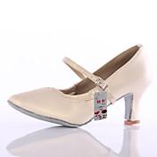 Zapatos de baile(Negro / Marrón / Blanco / Plata) -Latino / Moderno-Personalizables-Tacón Personalizado