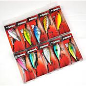 Pesca-10 pcs-3D Plástico duro-Pesca de Mar Pesca de baitcasting Pesca en Bote / Pesca al curricán