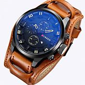 CURREN Masculino Relógio Esportivo Relógio Militar Relógio Elegante Relógio de Moda Relógio de Pulso Quartzo Quartzo Japonês Calendário
