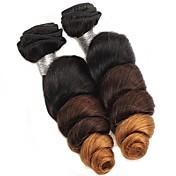 Ombre Cabello Brasileño Ondulado Amplio 6 Meses los tejidos de pelo