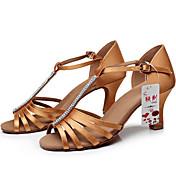 Zapatos de baile(Negro / Marrón) -Latino-Personalizables-Tacón Personalizado
