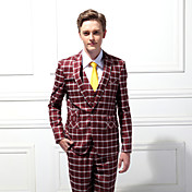 trajes de etiqueta en forma de pico medida de un solo pecho y dos botones de rayón (T / R) / lana&poliéster mezclado sólidos 2 piezas