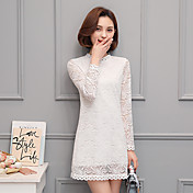 Signo 2017 nuevo cordón blanco vestido de flores de gancho hueco temperamento en vestido de primavera