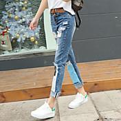 サインスポット春に新しい韓国の女性のジーンズ