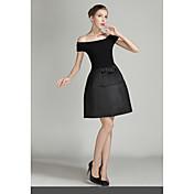 Ebay aliexpress vestido de manga corta europea y americana de la palabra de la manera