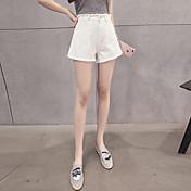 cintura delgada signo versión coreana de las borlas del flash pantalones de pierna ancha salvajes pantalones cortos de mezclilla