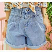 Mujer Chic de Calle Tiro Bajo Microelástico Vaqueros Pantalones,Delgado Un Color