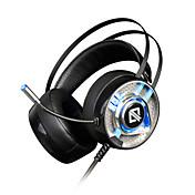 AJAZZ AX360 Cinta Con Cable Auriculares Dinámica Acero inoxidable De Videojuegos Auricular Dual Drivers Aislamiento de ruido Con