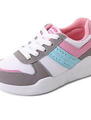 Feminino Sapatos Tecido Couro Ecológico Outono Inverno Conforto Solados com Luzes Tênis Caminhada Rasteiro Ponta Redonda Cadarço Para