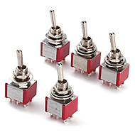 Interruptor de 6p alternância para a eletrônica diy (5 peças por pacote)
