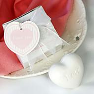 White Heart Soap Wedding Favor