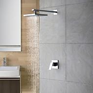 Moderne Douche seulement Douche pluie with  Soupape céramique 2 trous Mitigeur deux trous for  Chrome , Robinet de douche