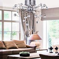 Moderni Kristallikruunu, 9 lamppua, Kromi, Kristalli