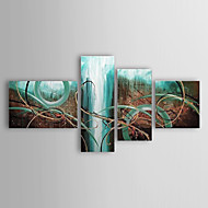 Hånd-malede Abstrakt enhver Shape,Moderne Traditionel Fire Paneler Kanvas Hang-Painted Oliemaleri For Hjem Dekoration