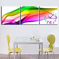 moderni tyyli luonnonkaunis kangas seinäkello 3kpl k226