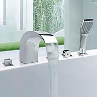 浴槽用水栓 - 現代風 - サイドスプレー / ハンドシャワーは含まれている - 真鍮 (クロム)