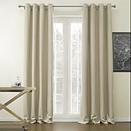 Dvije zavjese Prozor Liječenje Moderna , Jednobojni Living Room Polyester Materijal Blackout Zavjese Zavjese Početna Dekoracija For Prozor