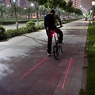Luzes de Bicicleta / Luz Traseira Para Bicicleta LED / Laser Ciclismo Prova-de-Água / Bisel de Golpe / Atenção Lumens BateriaCampismo /