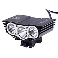 Lanternas de Cabeça LED 3000 Lumens 3 Modo Cree XM-L2 T6 18650.0 Recarregável Impermeável Super Leve Tamanho Compacto Tamanho Pequeno
