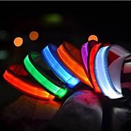 Kissat / Koirat Kaulapannat LED valot Tukeva Punainen / Valkoinen / Vihreä / Sininen / Keltainen / Oranssi Nailon