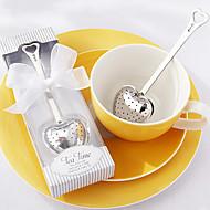 """""""Tea time"""" sydän ruostumaton teräs teetä infuser tyylikäs valkoinen lahjapakkauksessa, w16.5cm xl5cm"""