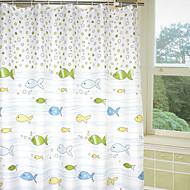 Cortina linda bolha peixes dos desenhos animados do chuveiro