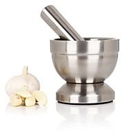 Česnek pepř koření mlýnek mísa malta palička podstavec nerezová ocel kuchyně dětská výživa mlýnek hrnce hrnce