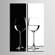 Canvas Set Still Life Realism Traditional,Two Panels Vertical Print Wall Decor For Home Decoration