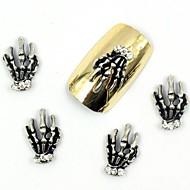 50kpl halloween kynsien malleja pronssi sormella vääriä timantti strassi akryyli kynsien vinkkejä kynsikoristeet koristeet