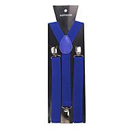 Dark Blue Solid Nylon Suspender