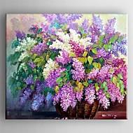 뻗어 프레임과 유화 현대적인 꽃 손으로 그린 캔버스