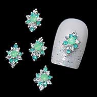 10kpl vihreä strassi metalliseos DIY sormenpäät suunnittelu kynsikoristeet koriste