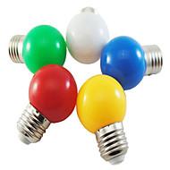5ks 1w e27 5xsmd2835 100-150lm barevné koule bublina led led žárovky (náhodná barva)