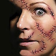 1 Tatuagens Adesivas Outros não tóxica Halloween Lombar Á Prova d'águaCriança Feminino Masculino Adulto Adolescente Flash do tatuagem