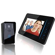 """Ennio 2.4g 7 """"tft video sem fio porta-voz porta-voz de intercomunicação home monitor de câmera de segurança dvr"""