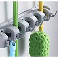 plastic wand gemonteerde organizer en opslag mop bezem houder hulpmiddel