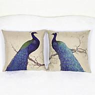 2 kpl Peacock heittää tyynyliina tyynyliina sohva sisustus istuinpehmusteet (17 * 17 tuumaa)