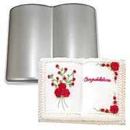 FOUR-C Book Shape Aluminum Cake Baking Pan Mold, Baking Supplies for Cakes,Baking Mold Bakeware Metal