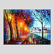 Maalattu Abstraktit maisemakuvat Vaakasuora,Moderni European Style 1 paneeli Kanvas Hang-Painted öljymaalaus For Kodinsisustus