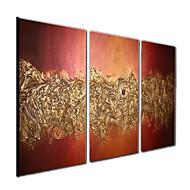 Maalattu Abstrakti Fantasy Horisontaalinen Panoramic,Moderni 3 paneeli Kanvas Hang-Painted öljymaalaus For Kodinsisustus