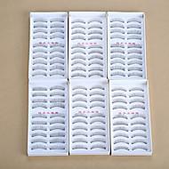 Cílios Cílios Tiras Completas de Cílios Olhos Pestana Cruzado Grossa Comprimento Natural Natural Encaracolado Grossa Manual Microfibra