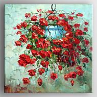 Maalattu Kukkakuvio/KasvitiedeRealismi 1 paneeli Kanvas Hang-Painted öljymaalaus For Kodinsisustus